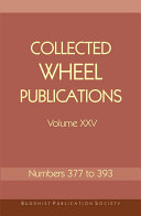 Collected Wheel Publications Volume XXV