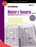 Webster's Thesaurus, Grades 4 - 8