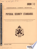 Ordnance Corps Manual ORDM 7-2: Physical Security Standards