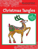 Relax and Retreat Coloring Book  Christmas Tangles