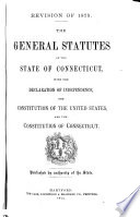 The General Statutes of the State of Connecticut