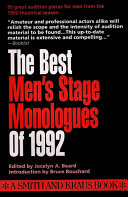The Best Men s Stage Monologues of 1992