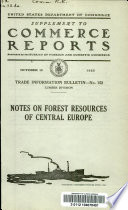 Notes on forest resources of central Europe