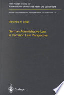 German Administrative Law in Common Law Perspective