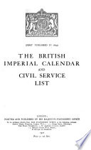 The Civil Service Year Book