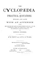 The Cyclopedia of Practical Quotations  English and Latin