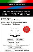 English - Italian & Italian - English Dictionary of Law