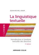 Pdf La linguistique textuelle - 4e éd. Telecharger