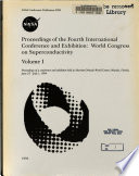 Proceedings of the 4th International Conference and Exhibition  World Congress on Superconductivity  Volume 1