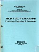 Heavy Oil Tar Sands Producing Upgrading Economics Book PDF