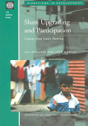 Slum Upgrading and Participation