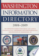 """Washington Information Directory 2008-2009"" by CQ Press"