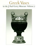 Pdf Greek Vases in the J. Paul Getty Museum