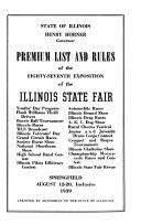 Premium List of the     Illinois State Fair