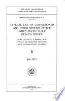 Official List of Commissioned and Other Officers of the United States Public Health Service