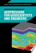 Quantitative Analysis of Geopressure for Geoscientists and Engineers