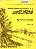 The Highway Engineer s Guide to Alternative Energy Sources and Applications Book