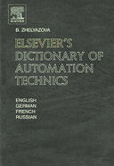 Pdf Elsevier's Dictionary of Automation Technics Telecharger