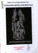 Initiation Rites and Rituals ebook