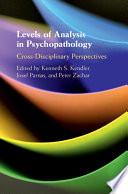 Levels of Analysis in Psychopathology