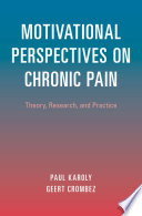 Motivational Perspectives on Chronic Pain Book