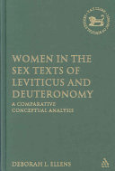 Women in the Sex Texts of Leviticus and Deuteronomy Book