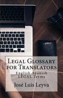 Legal Glossary for Translators