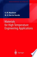 Materials for High Temperature Engineering Applications Book