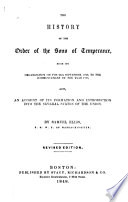 The History of the Order of the Sons of Temperance