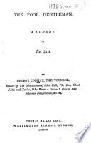 The Poor Gentleman  Etc Book