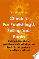 Checklist For Publishing Selling Your Books