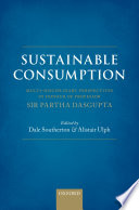 Sustainable Consumption