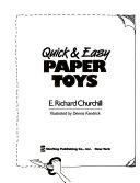 Quick   Easy Paper Toys