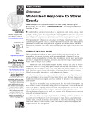 Watershed Response to Storm Events