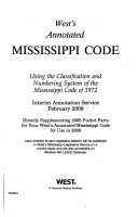 Annotated Mississippi Code
