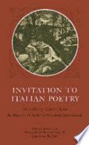 Invitation to Italian Poetry