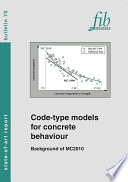Code type models for concrete behaviour