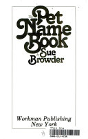 The Pet Name Book Book