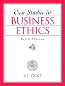 Cover of Case Studies in Business Ethics