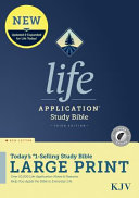 KJV Life Application Study Bible  Third Edition  Large Print  Red Letter  Hardcover  Indexed