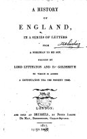 Pdf A History of England, in a Series of Letters from a Nobleman to His Son