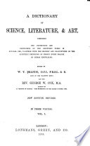 A Dictionary of Science  Literature    Art