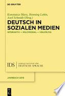 Deutsch in Sozialen Medien