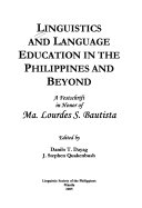 Linguistics and Language Education in the Philippines and Beyond