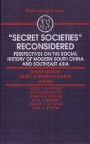 """Secret Societies"" Reconsidered"