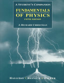 Fundamentals of Physics  Extended  A Student s Companion