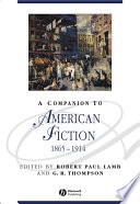 A Companion to American Fiction  1865   1914