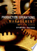 """""""Production & Operations Management"""" by Upendra Kachru"""