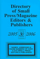 Directory Of Small Press Magazine Editiors Publishers 2005 2006 Book