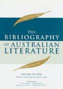 Pdf The Bibliography of Australian Literature: A-E